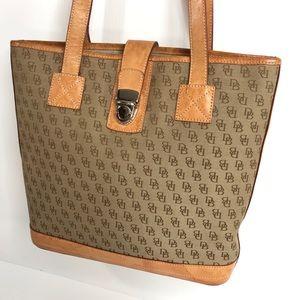 Rooney & Bourke Brown Signature Tote Bag